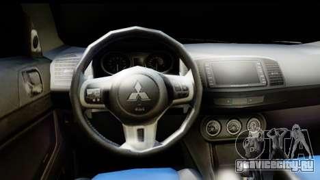 Mitsubishi Lancer X RE-Racing Edition для GTA San Andreas вид сзади слева