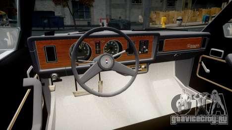 Ford Fairmont 1978 v1.1 для GTA 4 вид сзади