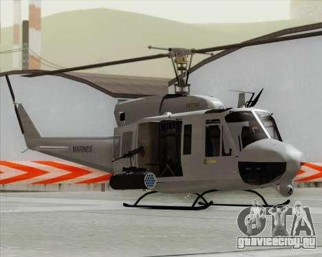 Bell UH-1N Huey USMC для GTA San Andreas вид сзади слева