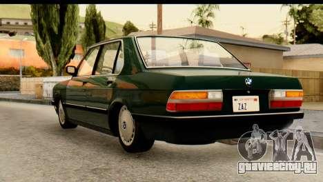 BMW M5 E28 Edit для GTA San Andreas вид слева