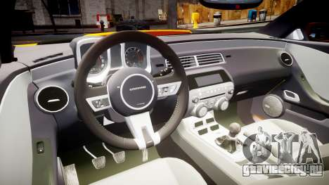 Chevrolet Camaro SS для GTA 4 вид сзади