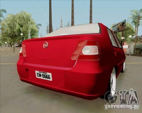 Fiat Siena 2008 для GTA San Andreas вид слева