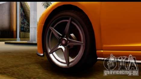 GTA 5 Obey 9F Coupe для GTA San Andreas вид сзади слева