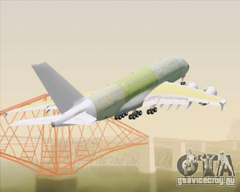 Airbus A380-800 F-WWDD Not Painted для GTA San Andreas вид снизу