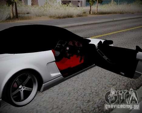 Honda NSX 2015 для GTA San Andreas вид изнутри