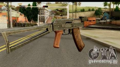 АКС-74 из Тёмного Дерева для GTA San Andreas второй скриншот