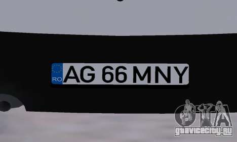 Dacia Logan Taxi для GTA San Andreas вид снизу