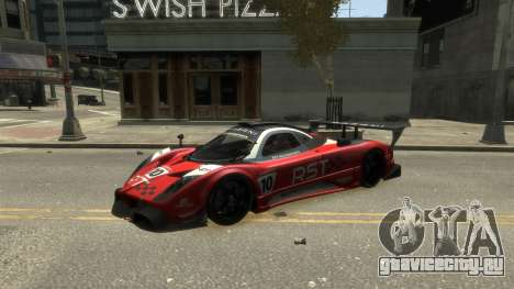 Pagani Zonda R для GTA 4 вид сзади слева