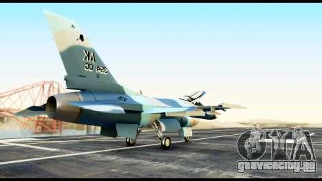 F-16 Aggressor Alaska для GTA San Andreas вид сзади слева