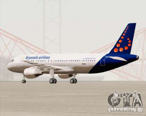 Airbus A320-200 Brussels Airlines для GTA San Andreas вид сзади слева