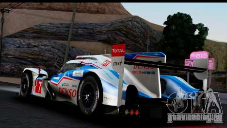 Toyota TS040 Hybrid 2014 для GTA San Andreas вид слева