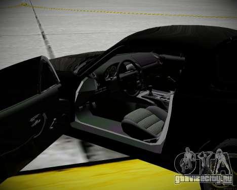 Mazda MX-5 JDM для GTA San Andreas вид изнутри