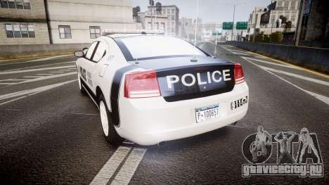 Dodge Charger 2006 Sheriff Dukes [ELS] для GTA 4 вид сзади слева