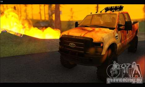 Ford F-250 Rusty Lifted 2010 для GTA San Andreas вид справа