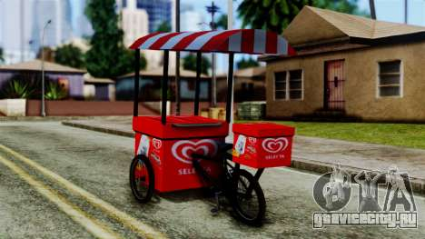 Selecta Ice Cream Bike для GTA San Andreas вид слева