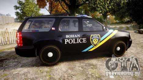 Chevrolet Tahoe 2010 Sheriff Bohan [ELS] для GTA 4 вид слева