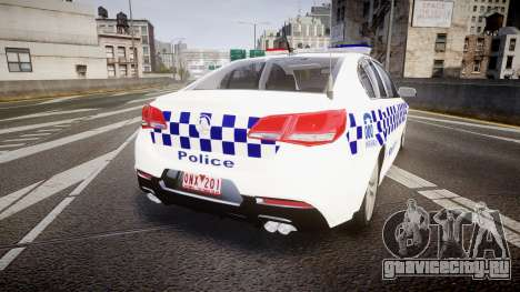 Holden VF Commodore SS Victorian Police [ELS] для GTA 4 вид сзади слева