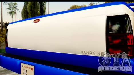 GTA 5 Vapid Sandking XL IVF для GTA San Andreas вид сзади