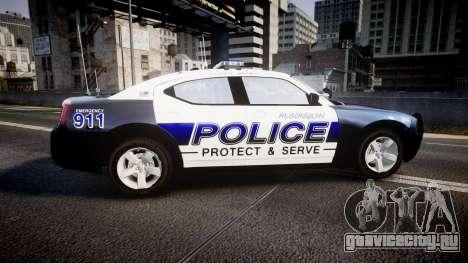 Dodge Charger 2006 Algonquin Police [ELS] для GTA 4 вид слева
