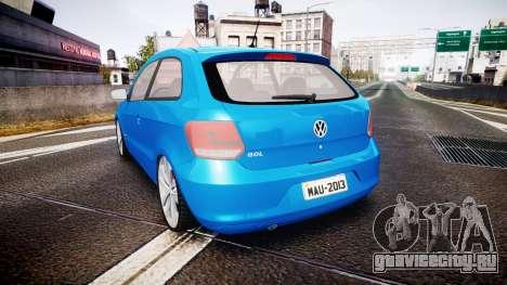 Volkswagen Gol G6 iTrend 2014 rims2 для GTA 4 вид сзади слева