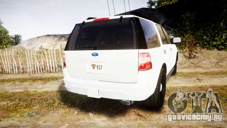 Ford Expedition West Virginia State Police [ELS] для GTA 4 вид сзади слева