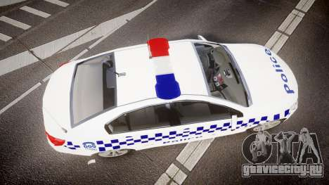 Holden VF Commodore SS Victorian Police [ELS] для GTA 4 вид справа