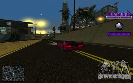 C-HUD Diamond Gangster для GTA San Andreas пятый скриншот