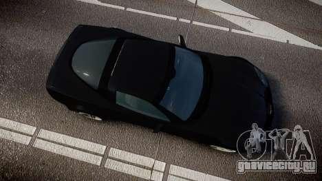 Chevrolet Corvette Z06 Unmarked Police [ELS] для GTA 4 вид справа
