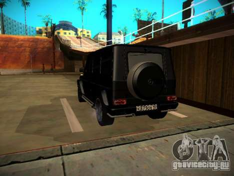 Mercedes-Benz G500 Bluetec 2014 для GTA San Andreas вид сзади слева