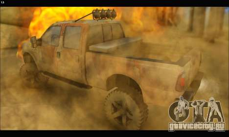 Ford F-250 Rusty Lifted 2010 для GTA San Andreas вид слева