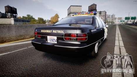 Chevrolet Caprice Highway Patrol [ELS] для GTA 4 вид сзади слева