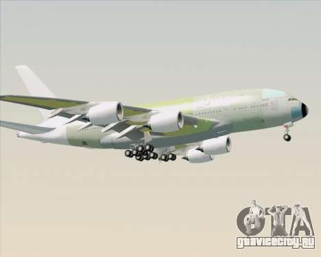 Airbus A380-800 F-WWDD Not Painted для GTA San Andreas вид сзади слева