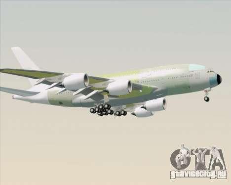Airbus A380-800 F-WWDD Not Painted для GTA San Andreas вид сзади слева