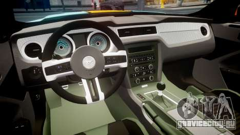 Ford Mustang Boss 302 2013 Gulf для GTA 4 вид сзади