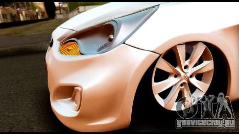 Hyundai Accent Blue для GTA San Andreas вид справа