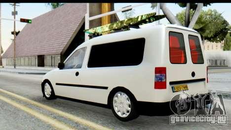 Opel Combo Delta Garage для GTA San Andreas вид слева