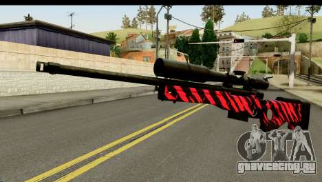 Red Tiger Sniper Rifle для GTA San Andreas