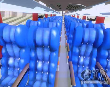 Busscar Vissta Buss LO Cometa для GTA San Andreas вид изнутри