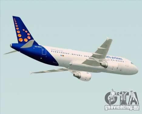 Airbus A320-200 Brussels Airlines для GTA San Andreas вид изнутри
