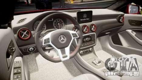 Mersedes-Benz A45 AMG для GTA 4 вид сбоку