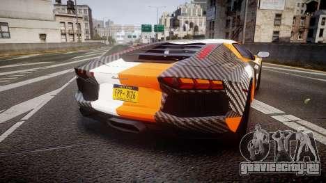 Lamborghini Aventador 2012 [EPM] Hankook Orange для GTA 4 вид сзади слева
