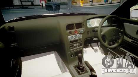 Nissan Skyline R33 GT-R V.spec 1995 для GTA 4 вид изнутри