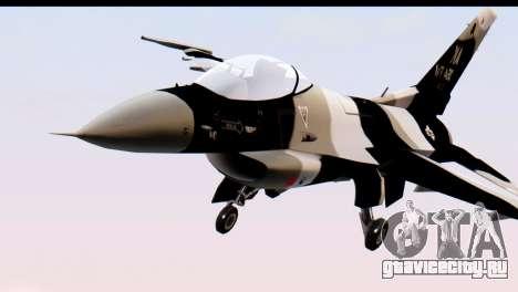 F-16 Aggressor Squadron Alaska Black Camo для GTA San Andreas