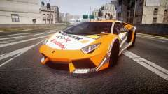 Lamborghini Aventador 2012 [EPM] Hankook Orange для GTA 4
