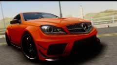 Mercedes-Benz C63 AMG 2012 Black Series для GTA San Andreas