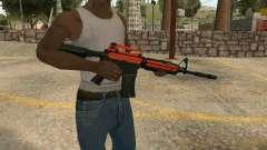 Orange M4A1 для GTA San Andreas