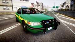 Ford Crown Victoria Sheriff [ELS] green для GTA 4