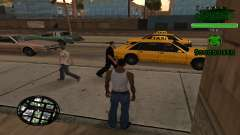 C-HUD Grove St. Family для GTA San Andreas