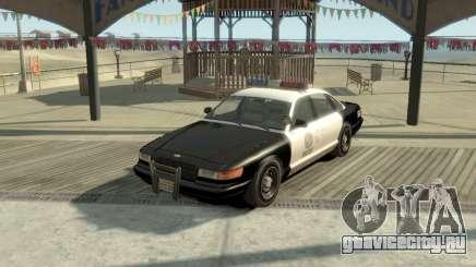 GTA V Vapid Stanier Police Cruiser для GTA 4
