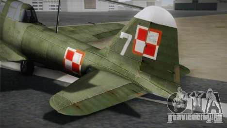 ИЛ-10 Polish Navy для GTA San Andreas вид сзади слева